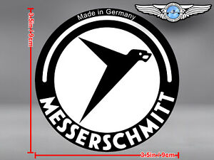 MESSERSCHMITT LOGO ROUND DECAL / STICKER