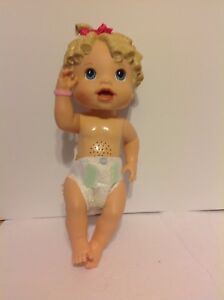 Baby Alive All Gone Girl Doll Talking Interactive Molded Blonde Hair 2009 Hasbro