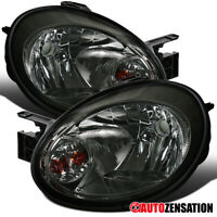 For 2003-2005 Dodge Neon Smoke Lens Headlights Head Lamps Pair Left+Right