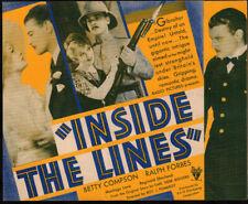 Inside the Lines  Original Movie Herald 1930  Betty Compson  Ralph Forbes  rare
