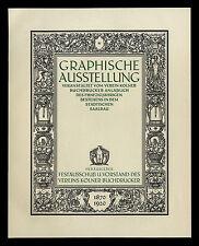 Grosse Werbeblatt 1920 Graphische Ausstellung 1870-1920 Verein Kölner Buchbinder