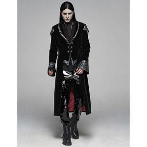 Punk Rave Gothic Victorian Steampunk Herren Mantel - The Magician
