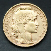 20 francs or Coq Années variées (1899-1914) 20 french franc Rooster gold coin