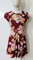 Floral Princess Style Dress Sz 10 Fit Flare Knee Length Party Cocktail Formal