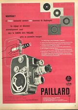 I- Publicité Advertising 1959 La Camera B8 L paillard Bolex
