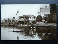 More details for worcester rowing club boat house & evening fete - old rp postcard by grosvenor