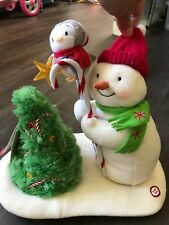 NWT Hallmark Christmas Trimming the Tree Singing Snowman