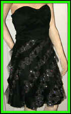 Strapless Black Formal PARTY DRESS Jr 5/6 PROM Wedding Holiday ADRIANNA PAPELL