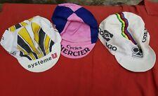 3 casquettes vélo COLNAGO CAMPAGNOLO MERCIER vintage