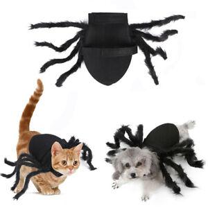 Pet Dog Cat Black Spider Costume Big Spider Costume Clothes Halloween Party UK