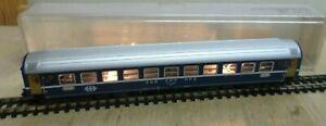 Minitrix N 3026 Passenger Car Eurofima 2 Class Blue The SBB Illuminated Boxed