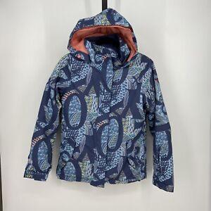 Roxy Snowboard Jacket - Jetty Girls Large (14/XL) Dryflight 10K Ski Hooded Blue