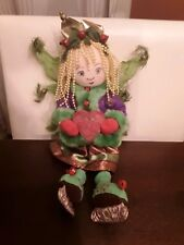 "Yankee Candle Plush doll Ice Skates Crown Rare 10"" tall Fairy Wings Beaded Hair"