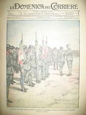 WW1 MILITAIRE DéCORé DUC D'AOSTE CHASSEURS ALPINS LA DOMENICA DEL CORRIERE 1917