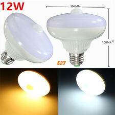 E27 12W 24 SMD 5630 Auto PIR Motion Sensor LED Infrared   Light Bulb AC85-265V