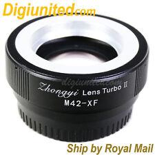 Zhongyi Lens Turbo II Reducer Booster M42 Screw to Fujifilm FX Adapter X-pro2 T1