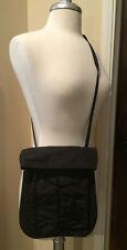 LEXON Black Nylon Crossbody Travel Bag