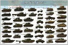 WW2 UNITED STATES D-DAY THE NORMANDY CAMPAIGN ALL TANK Poster printing 40x60cm
