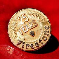 Vintage Firestone Tire company 25 year service pin-14k yellow gold 1.6gr