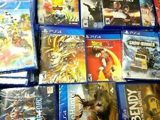 PS4 Video Games Assorted Titles Opened and Unopened