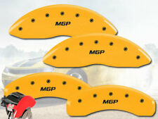 """2015-2017 Chevy Trax AWD Front + Rear Yellow """"MGP"""" Brake Disc Caliper Covers 4pc"""