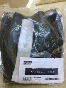 Dooney & Bourke Ostrich Embossed Leather Keeghan Drawstring Bag BLACK (Sealed)