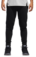 Adidas Sweatpants Mens L XL or 2XL Black with Blue Authentic Pro Sport Slim Fit