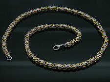 HIGH QUALITY MEN'S STAINLESS STEEL CHUNKY LINK CHAIN  NECKLACE GOLD/SILVER