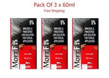 Morr F 5% Lipid Solution Hair Loss Regrowth Treatment Extra Strength 3 x 60ml