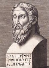 Portrait XVIIe Aristophane Ἀριστοφάνης Comédie Théâtre Aristophanes Comedy 1685