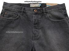 New Mens Dark Grey Black Slim Crop NEXT Jeans Size 32 Short L25 £40 LABEL FAULT