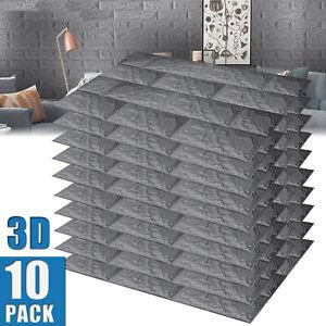 3D Wallpaper Tile Stone Brick Wall Sticker Self-adhesive Waterproof Foam Panel