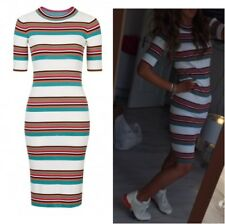 Topshop Premium Modern Stripe Bodycon Tee Dress - Size 8