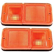 68~72 Chevy GMC Truck 78~84 Chevy GMC Van Front Side Marker Lamp Light Lens Pair