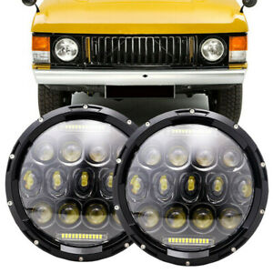 """For 1970-95 Land Rover Range Rover Classic DOT 7"""" Round Black LED Headlights"""