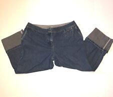 J. Jill Womens Jeans Geniune Fit Crop Capri 100% Cotton Medium Wash 12 Petite