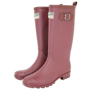 Town & Country Wellington Boots, Lightweight PVC, The Burford, Aubergine, Size 6