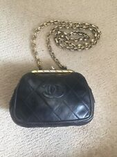 Chanel Black Quilted Mini Clasp Bag