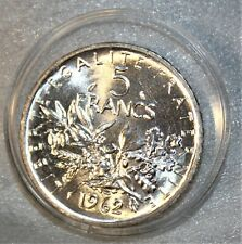 5 Francs Semeuse Argent - 1962 -  FDC  & Superbe lustre !