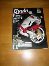 CYCLE Magazine April 1991 BIMOTA TESI BMW K100RS Accolade GP Computer Game