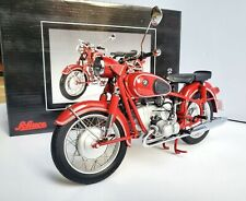 Schuco 1/10 BMW R69S 1969 Red Color, Motorcycle with 2 single seats. RARE