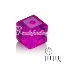 100Pcs 4x4mm Crystal Loose Beads About Cube Square Jewelry Making