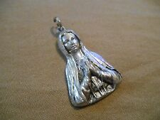 Old Vintage Religious Necklace Pendant Alvic Mfg Co Copyright 1955 Japan Mary