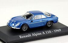 Renault Alpine A110 blau 1969 1:43 RBA-Vitrine Modellauto / Die-cast