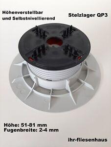 Stelzlager Selbstnivellierend Höhenverstellbar 51-81 mm QP3 Terrassenplatten