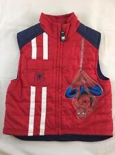 Marvel AMAZING Ultimate Spider-Man 2 RED Kids Boy's Zip-Up Character Vest Size 4