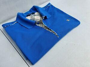 Casual Light Blue Cotton Men's Polo Shirt Size XL