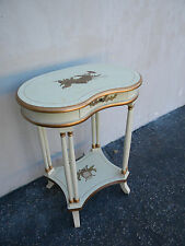 Small French Painted Kidney-Shape Side Table 5362