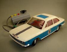 RARE VINTAGE OLD EAST GERMAN CAR TOY FIAT 124 SPORT w/ REMOTE CONTROL 70's