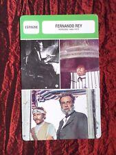 FERNANDO REY -  MOVIE STAR - FILM TRADE CARD - FRENCH - #3